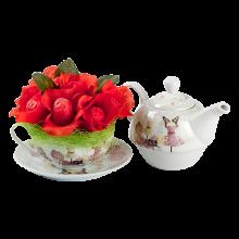 Set ceai cu Choco Trandafiri